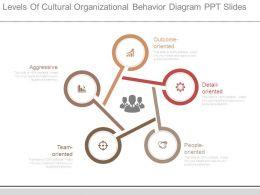 Levels Of Cultural Organizational Behavior Diagram Ppt Slides