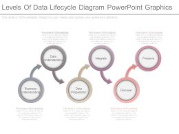Levels Of Data Lifecycle Diagram Powerpoint Graphics