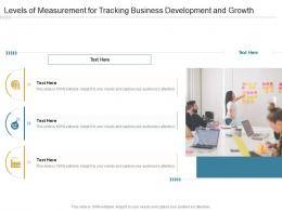 Levels Of Measurement For Tracking Business Development And Growth Infographic Template