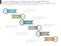 Levels Of Strategy In A Business Template Ppt Icon