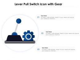 Lever Pull Switch Icon With Gear