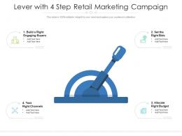 Lever With 4 Step Retail Marketing Campaign