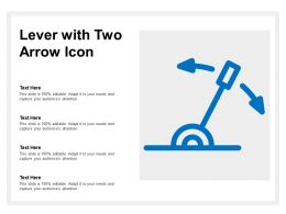 Lever With Two Arrow Icon