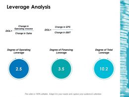 Leverage Analysis Ppt Layouts Model
