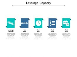 Leverage Capacity Ppt Powerpoint Presentation Gallery Model Cpb