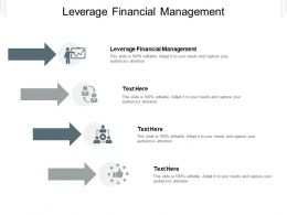 Leverage Financial Management Ppt Powerpoint Presentation Layouts Model Cpb