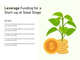 Leverage Funding For A Start Up At Seed Stage