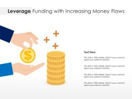 Leverage Funding With Increasing Money Flows
