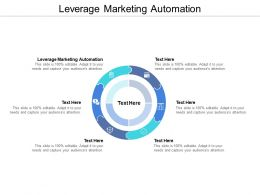 Leverage Marketing Automation Ppt Powerpoint Presentation Summary Portrait Cpb