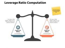 Leverage Ratio Computation Finance A550 Ppt Powerpoint Presentation Professional Show