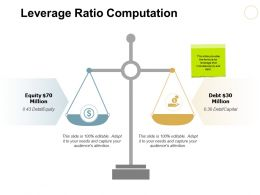 Leverage Ratio Computation Ppt Powerpoint Presentation File Designs