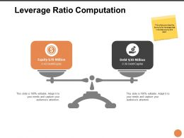 Leverage Ratio Computation Ppt Powerpoint Presentation Ideas