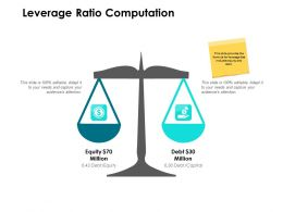 Leverage Ratio Computation Ppt Powerpoint Presentation Lists