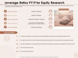 Leverage Ratios FY19 For Equity Research Less Assets Ppt Powerpoint Presentation Styles Background Image