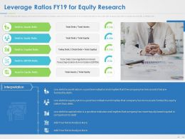 Leverage Ratios FY19 For Equity Research Ppt Powerpoint Presentation Summary Smartart