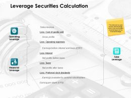 Leverage Securities Calculation Ppt Powerpoint Presentation Rules