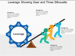 Leverage Showing Gear And Four Silhouette