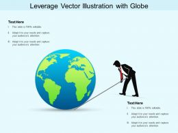 Leverage Vector Illustration With Globe