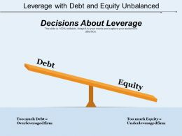 Leverage With Debt And Equity Unbalanced
