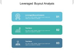 Leveraged Buyout Analysis Ppt Powerpoint Presentation Model Clipart Images Cpb