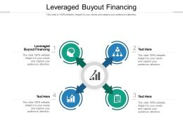 Leveraged Buyout Financing Ppt Powerpoint Presentation Slides Clipart Cpb