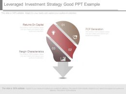 Leveraged Investment Strategy Good Ppt Example