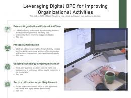 Leveraging Digital BPO For Improving Organizational Activities