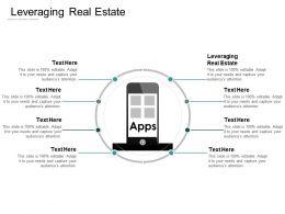 Leveraging Real Estate Ppt Powerpoint Presentation Portfolio Designs Download Cpb