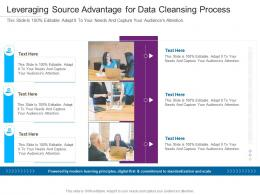Leveraging Source Advantage For Data Cleansing Process Infographic Template