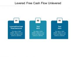 Levered Free Cash Flow Unlevered Ppt Powerpoint Presentation Show Slideshow Cpb