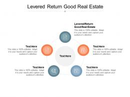 Levered Return Good Real Estate Ppt Powerpoint Presentation Ideas Files Cpb