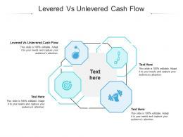 Levered Vs Unlevered Cash Flow Ppt Powerpoint Presentation Portfolio Structure Cpb