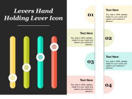 Levers Hand Holding Lever Icon