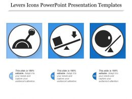 Levers Icons Powerpoint Presentation Templates