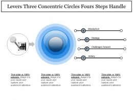Levers Three Concentric Circles Fours Steps Handle