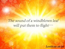 Leviticus 26 36 The Sound Of A Windblown Leaf Powerpoint Church Sermon
