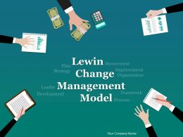 Lewin Change Management Model Powerpoint Presentation Slides