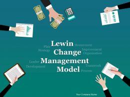 Lewin Change Management Model Powerpoint Presentation Slides