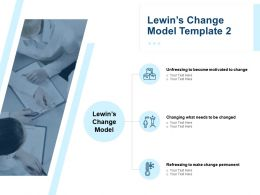 Lewin Change Model Template Refreezing Ppt Powerpoint Presentation Outline Structure