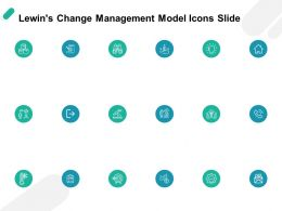 Lewins Change Management Model Icons Slide Strategy Ppt Powerpoint Presentation Portfolio Graphics Template