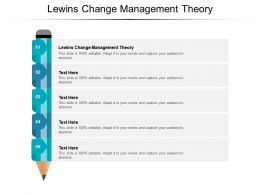 Lewins Change Management Theory Ppt Powerpoint Presentation Outline Cpb
