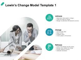Lewins Change Model Change Ppt Powerpoint Presentation Portfolio Graphic Tips