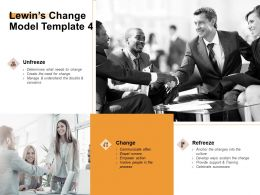 Lewins Change Model Communicate Ppt Powerpoint Presentation Portfolio Objects