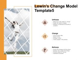 Lewins Change Model Manage Ppt Powerpoint Presentation Portfolio Slideshow