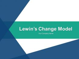 Lewins Change Model Powerpoint Presentation Slides