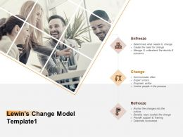 Lewins Change Model Process Ppt Powerpoint Presentation Portfolio Structure