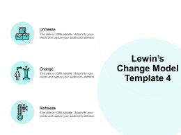 Lewins Change Model Unfreeze Ppt Powerpoint Presentation Icon Model