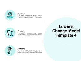 Lewins Change Model Unfreeze Ppt Powerpoint Presentation Icon Model