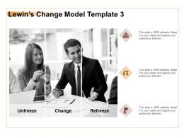 Lewins Change Model Unfreeze Ppt Powerpoint Presentation Portfolio Vector