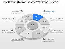 Lf Eight Staged Circular Process With Icons Diagram Powerpoint Template Slide